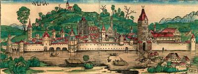 Ulm: Ansicht aus der Schedelschen Weltchronik 1493