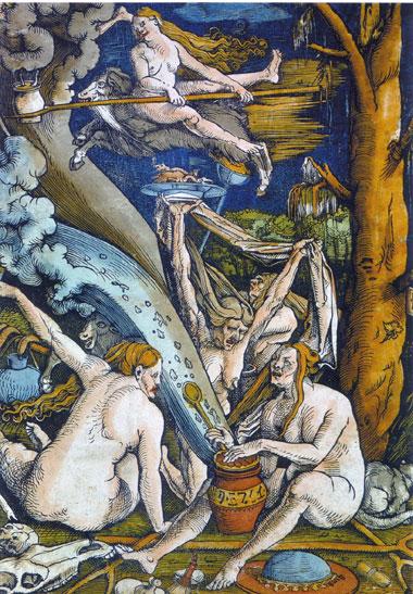 Vorbereitung zum Hexensabbat, Künstler: Hans Baldung Grien