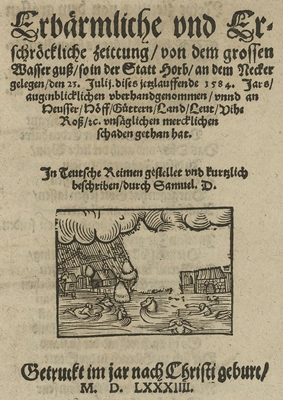 """""""Zeitung vom dem grossen Wasserguss"""""""