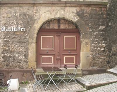 Eingang zur ersten Schule in Schwäbisch Hall