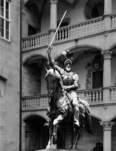 Reiterstandbild Graf Eberhards im Hof des Alten Schlosses