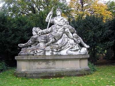Die Eberhardsgruppe im mittleren Schlossgarten nach dem Motiv des Gedichts