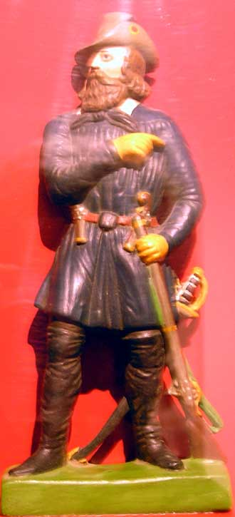 Friedrich Hecker - Zizenhausener Terrakottafigur im Rosgartenmuseum Konstanz