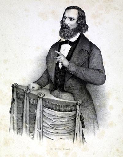 Friedrich Hecker - zeitgenössische Abbildung (um 1850)