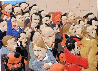 Reaktionen im Publikum bei Heckers Rede in Konstanz
