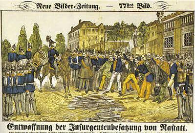 Entwaffnung der Insurgentenbesatzung von Rastatt
