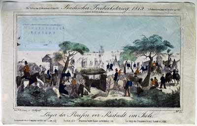 Preußisches Feldlager vor Rastatt im Juli 1849