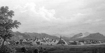 Bundesfestung Rastatt, Stich um 1850.