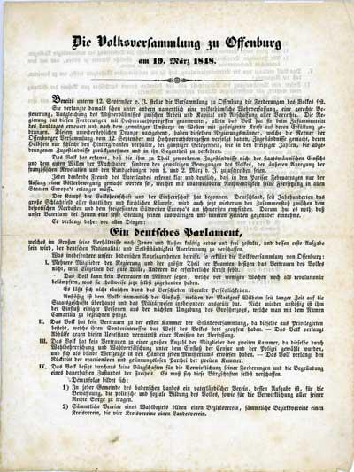 Keine Revolution ohne Kommunikation, Flugblatt März 1848