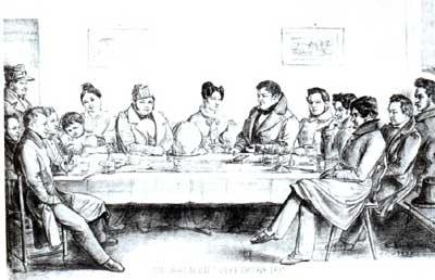 Carl Sandhaas. Im Salmen. Federzeichnung, 1835