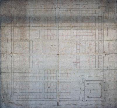 Der erste Entwurf: Baublockplan von 1599