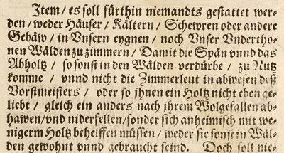Württembergische Forstordnung 1614
