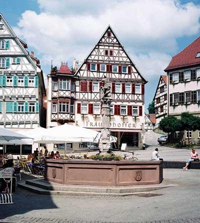Herrenberg, Marktbrunnen.