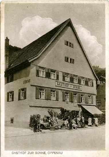 Gasthof Sonne - um 1900