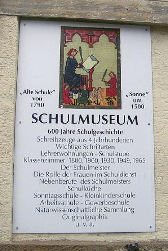 Das Schulmuseum Weiler ist hervorgegangen aus der Stiftung Brehm: Sammlung zu Kulturgeschichte der Schule.