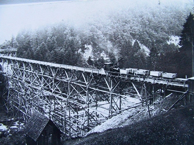 Provisorische Eisenbahnbrücke