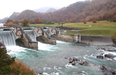 Alpenrheinkraftwerk Reichenau bei Chur