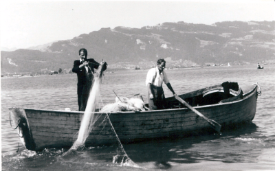 Berufsfischer am Bodensee-Obersee am Anfang des 20. Jahrhunderts