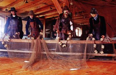 Klusgarnfischer bei der Arbeit.