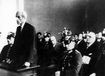 Prozess zum 20. Juli 1944: Eugen Bolz am 21.12.44