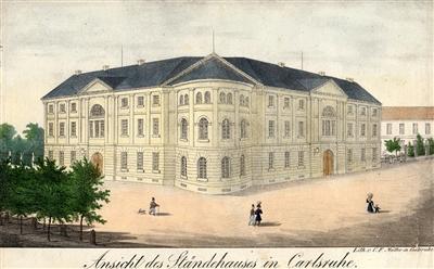 Das Ständehaus in Karlsruhe.