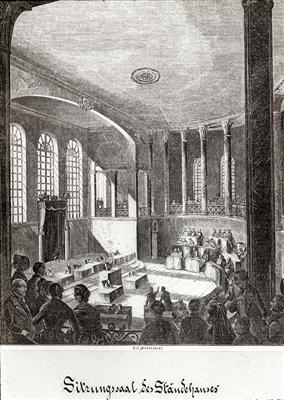 Der Sitzungssaal der Zweiten Kammer im Karlsruher Ständehaus