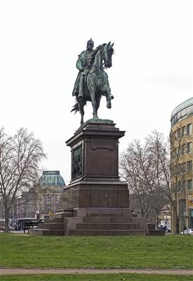 Das Kaiser-Wilhelm-Denkmal auf dem Kaiserplatz am Mühlburger Tor.