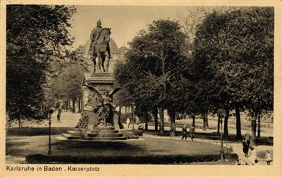 "Postkarte ""Karlsruhe in Baden. Kaiserplatz"""