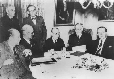 Südweststaat-Konferenz im Hotel Waldeck in Freudenstadt 1950