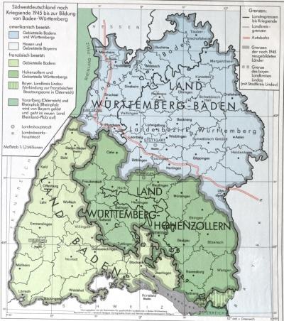 Südwestdeutschland nach dem Ende des Zweiten Weltkriegs