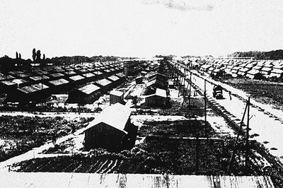Blick über das Konzentrationslager Gurs