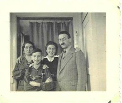 Die Familie des Haigerlocher Rabbinatsverwesers und Lehrers der jüdischen Volksschule Gustav Spier, Mitte der 30er Jahre. Lediglich die Tochter Ruth überlebte die Jahre des Nationalsozialismus.