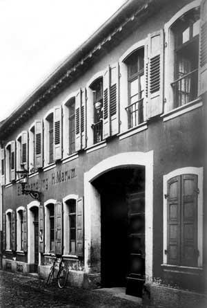 Die Eisenhandlung Heinrich Marums, des Großvaters von Ludwig Marum, in Frankenthal