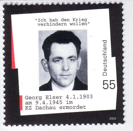 Georg Elser: Sonderbriefmarke 2003