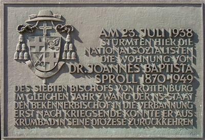 Gedenktafel in Rottenburg