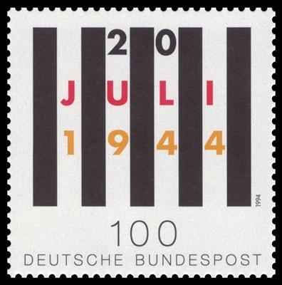 Briefmarke (1994) zum 50. Jahrestag des Attentats
