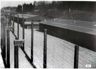 Innenansicht des Lagers KZ Wiesengrund am 9.4.45