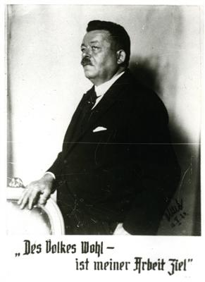 Reichspräsident Friedrich Ebert und sein Lebensmotto