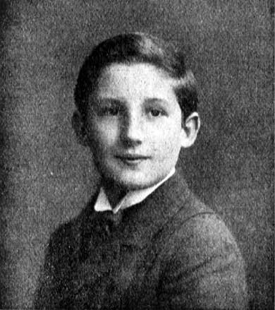 Fritz Blum 1909 im Alter von 12 Jahren