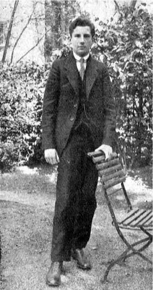 Fritz Blum als Abiturient 1916