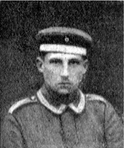 Fritz Blum im März 1918 in Frankreich
