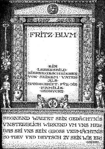 Das Titelbild des Buches über Fritz Blum