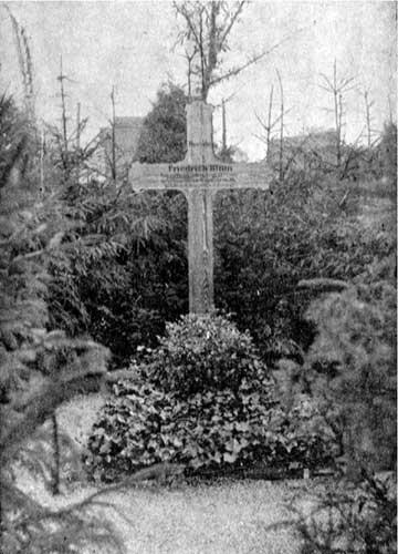 Das Grab auf dem Mannheimer Hauptfriedhof im September 1918