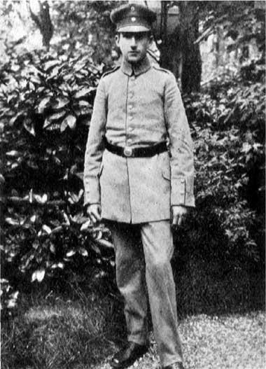 Fritz Blum als Soldat 1916