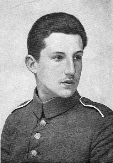 Fritz Blum im Jahre 1916