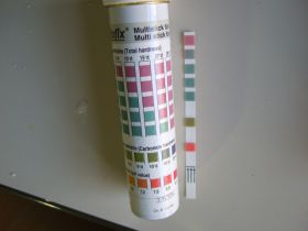 Multistick für Gesamthärte, Carbonathärte und pH