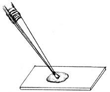 Objekt in einen Wassertropfen legen