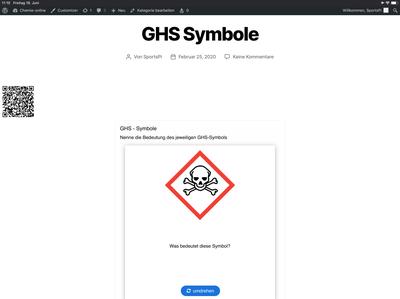 H5P-Übung zu den Gefahrensymbolen