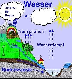 Schema Wasserkreislauf