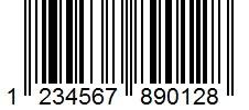 Beispiel für einen EAN-13-Barcode